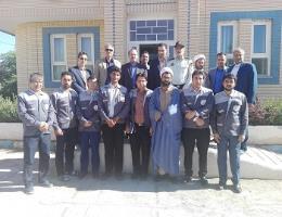 بازدید فرماندار و اعضای شورای اداری شهرستان باخرز از مرکز آموزش فنی و حرفه ای به مناسبت هفته ملی مهارت
