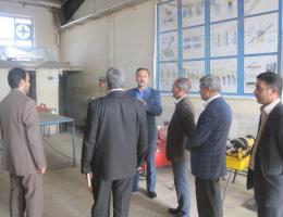 بازدید شهردار و اعضای شورای شهر بجستان از مرکز آموزش فنی و حرفه ای شهرستان