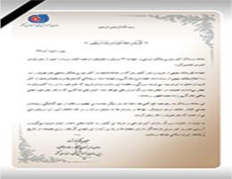 پیام تسلیت معاون وزیر و رییس سازمان آموزش فنی و حرفه ای کشور در پی جان باختن کارکنان کشتی نفت کش
