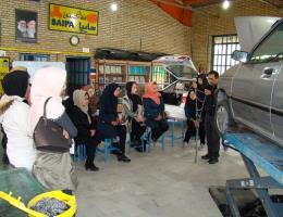 برگزاری کارگاه آموزش خودیاری فنی اتومبیل جهت اعضای اتحادیه آرایش و پیرایش زنانه نیشابور